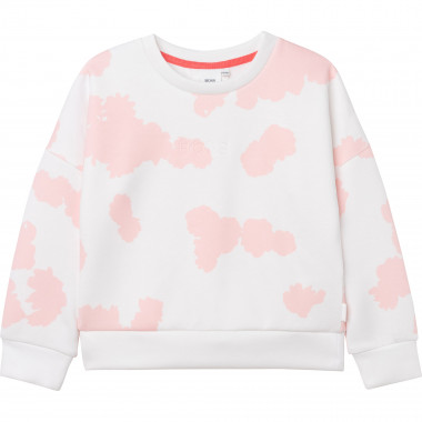 Printed jersey sweatshirt BOSS for GIRL