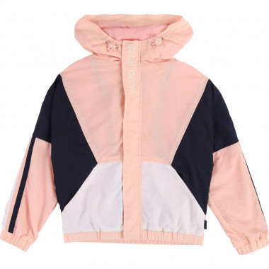 Hooded windbreaker with logo BOSS for GIRL