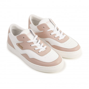 Two-tone leather trainers BOSS for GIRL