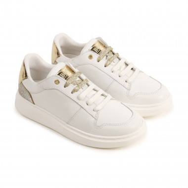 Low-top calfskin trainers BOSS for GIRL