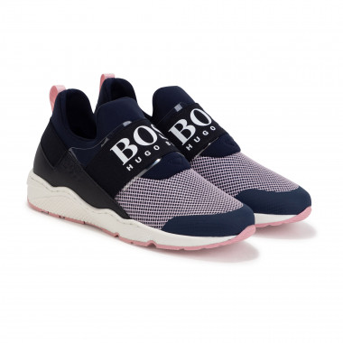 Leather and fabric trainers BOSS for GIRL
