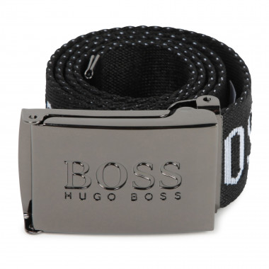 Belt with engraved buckle BOSS for BOY