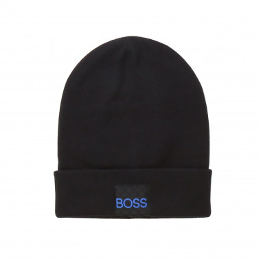 Combed cotton hat with logo BOSS for BOY