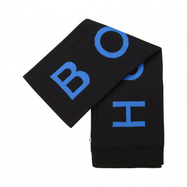 Combed cotton scarf with logo BOSS for BOY