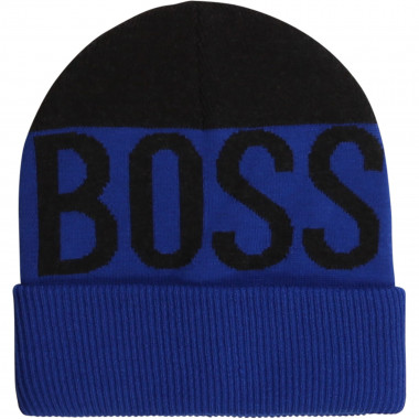 Double layer knit hat BOSS for BOY