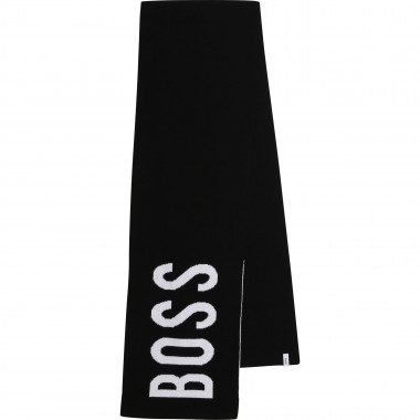 Cotton and wool scarf BOSS for BOY