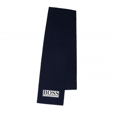 Knitted jacquard scarf BOSS for BOY