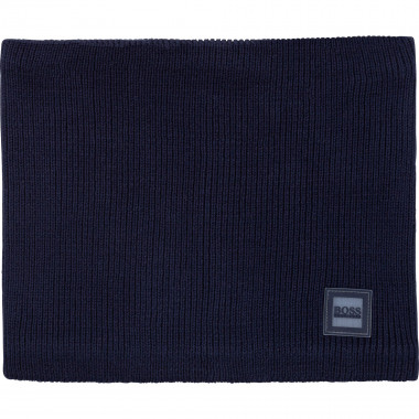 Fleece-lined knitted snood BOSS for BOY