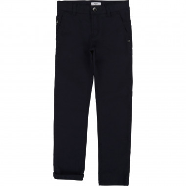Slim trousers in cotton twill BOSS for BOY