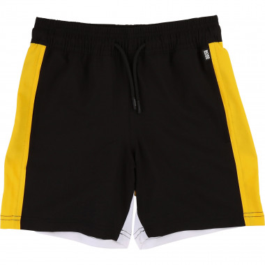 Stretch Bermudas with logo BOSS for BOY