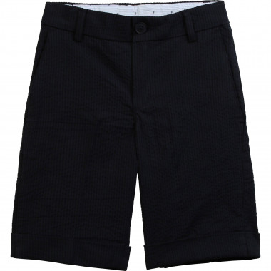 Waffled formal Bermuda shorts BOSS for BOY