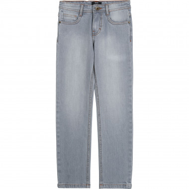 Topstitched slim-fit jeans BOSS for BOY