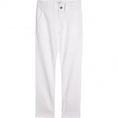 Cotton twill trousers BOSS for BOY