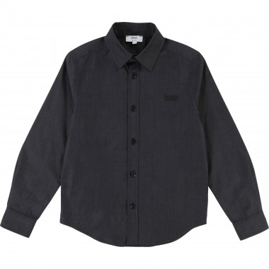 End-on-end cotton shirt BOSS for BOY