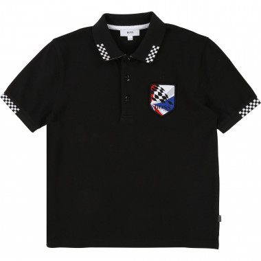 Short-sleeved racing polo BOSS for BOY