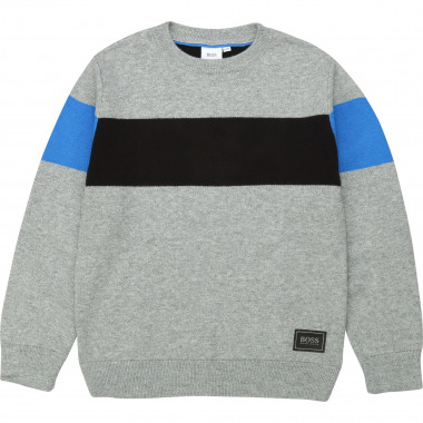 Knit logo jumper BOSS for BOY