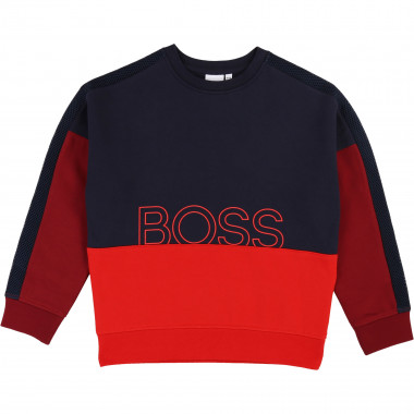 Fleece logo sweatshirt BOSS for BOY