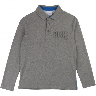 Polo with embossed logo BOSS for BOY