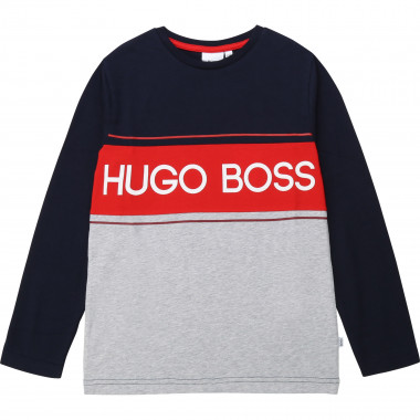 Fleece dress with logo BOSS for BOY