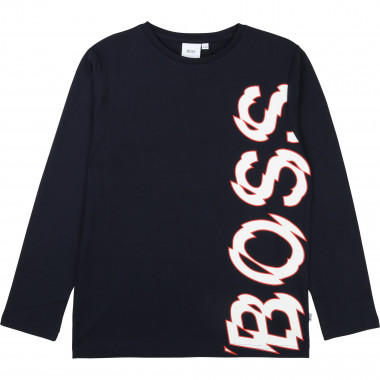 Cotton jersey babygro BOSS for BOY