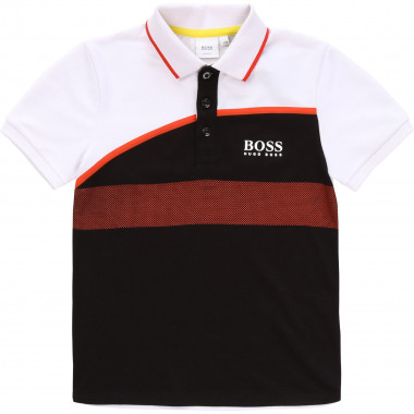 Slim-fit embossed print polo BOSS for BOY