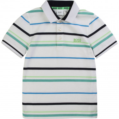 Striped slim-fit polo shirt BOSS for BOY