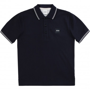 Short-sleeved polo shirt BOSS for BOY