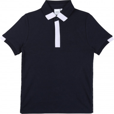 Slim-fit polo with logo piping BOSS for BOY