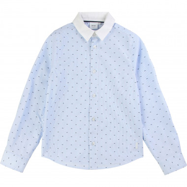 Slim-fit poplin shirt BOSS for BOY