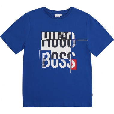 Cotton T-shirt with print BOSS for BOY
