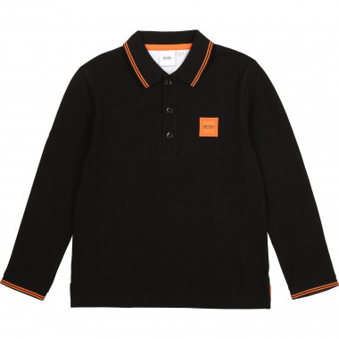 Regular fit cotton piqué polo BOSS for BOY