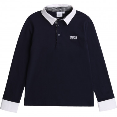 Slim fit cotton piqué polo BOSS for BOY