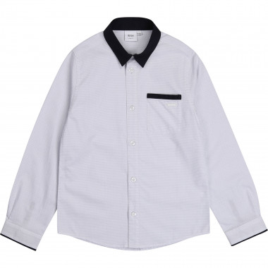 Two-tone slim fit shirt BOSS for BOY