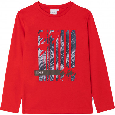 Cotton T-shirt with print. BOSS for BOY