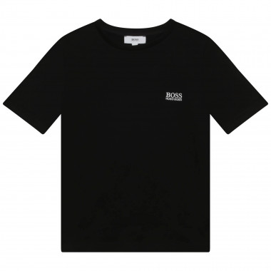 Short-sleeved cotton T-shirt BOSS for BOY