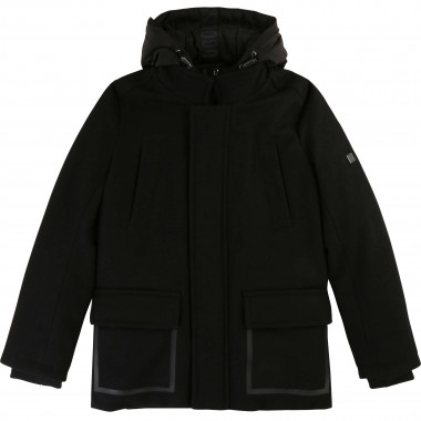 2-in-1 wool-rich pea jacket BOSS for BOY