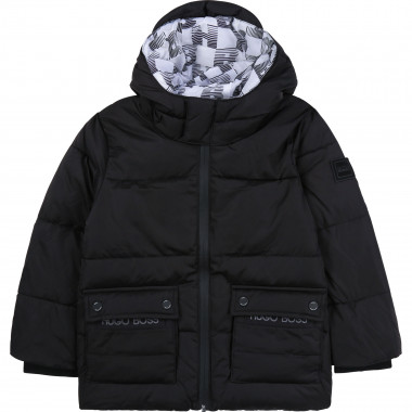 Water-resistant hooded jacket BOSS for BOY