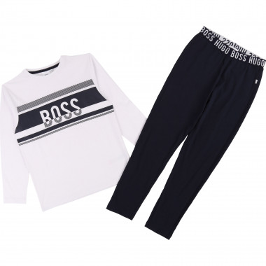 Cotton jersey pyjamas BOSS for BOY