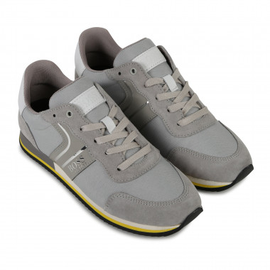 Leather and canvas trainers BOSS for BOY
