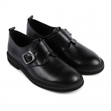 Buckled leather derby shoes BOSS for BOY