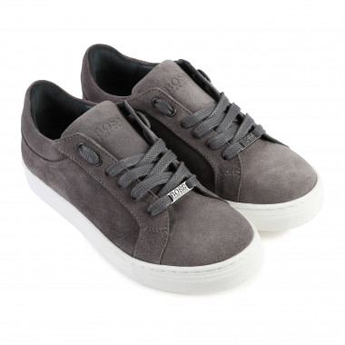 Low-rise leather trainers BOSS for BOY
