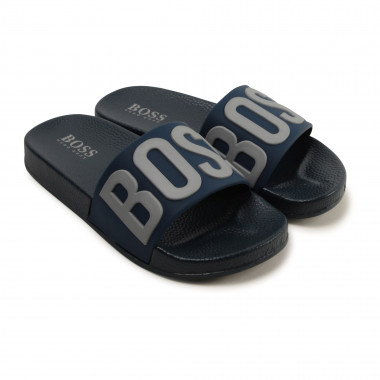 Rubber flip-flops with logo BOSS for BOY
