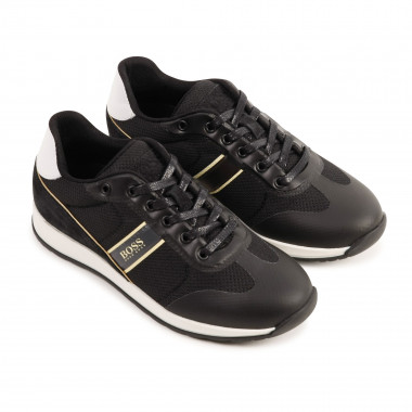 Lace-up leather trainers BOSS for BOY