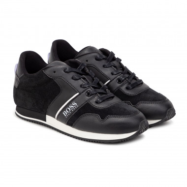 Lace-up leather trainers. BOSS for BOY