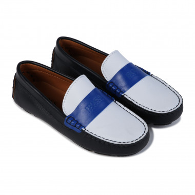 Leather loafers BOSS for BOY