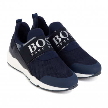 Mixed-material lace-up trainers BOSS for BOY