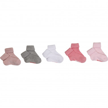 Pack of 5 pairs of socks BOSS for GIRL
