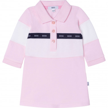 Stretch cotton polo dress BOSS for GIRL