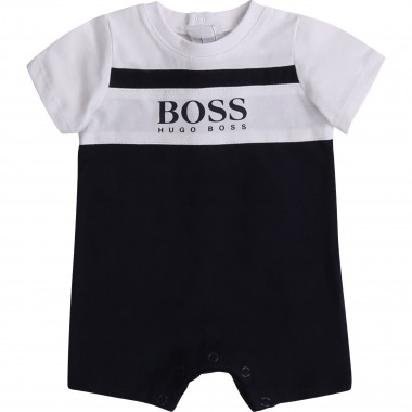 Two-tone cotton romper BOSS for BOY