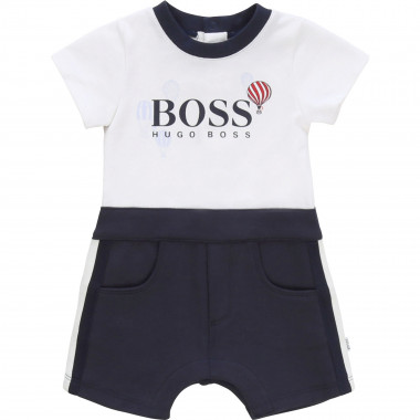 Dual-material romper BOSS for BOY